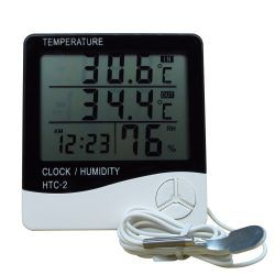 HTC-2-Highaccuracy-LCD-Digital-Thermometer-Hygrometer-Electronic-Temperature-Humidity-Meter-Clock-Weather-In-outdoor-Thermometer